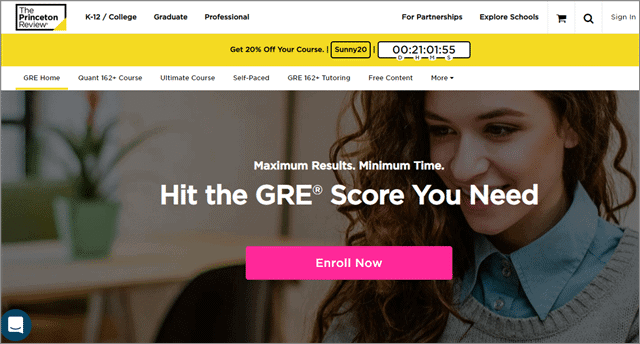 gre online prep from princeton review