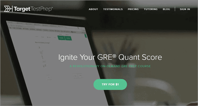 best gre prep course from targettest