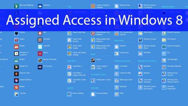 What-is-assigned-access-in-Windows-8