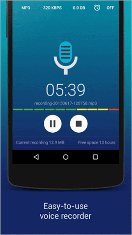 hiq mp3 best voice recorder app for android