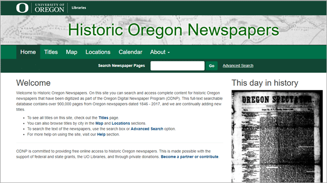 historic oregon old newspaper articles