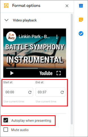 To add timestamps and enable autoplay