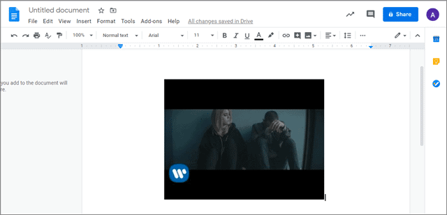 how to add videos to google docs
