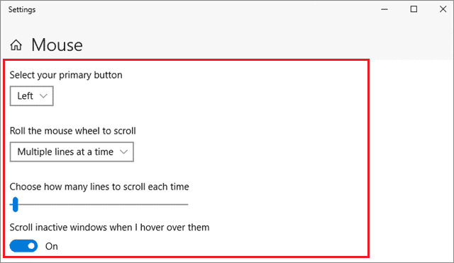 how to change mouse cursor speed