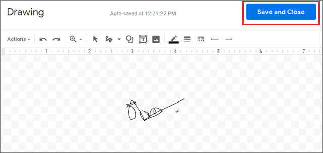 Click on Save and Continue after you have made your signature