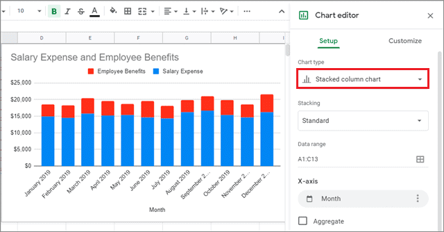 how to make a graph in google sheets 3