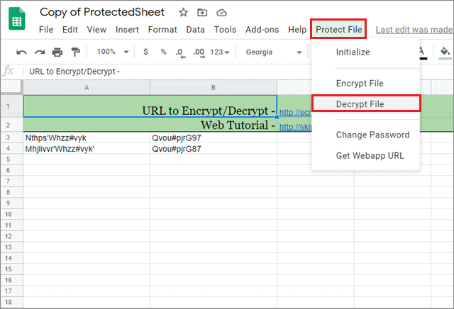 how to password protect your google sheet