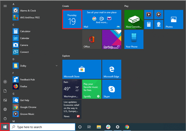 To open the Start menu and select a tile to disable to turn off notifications windows 10