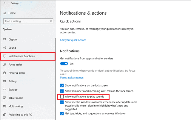 how to turn off notications windows 10 and mute them