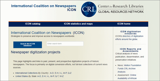 icon international coalition of newspapers