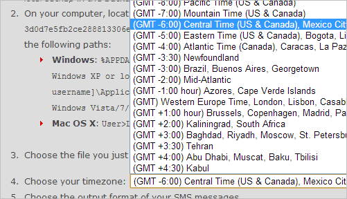 Select-your-local-timezone-so-the-SMS-file-is-properly-labeled