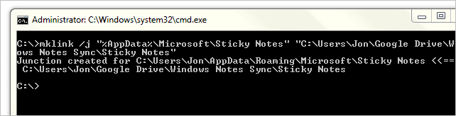 Make-a-link-between-the two-Sticky-Notes-locations-in-Windows-to-sync-them