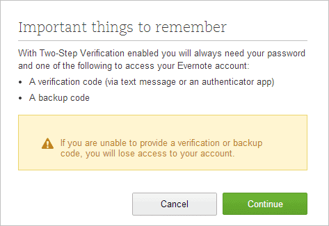 Enable-two-step-verification-in-Evernote