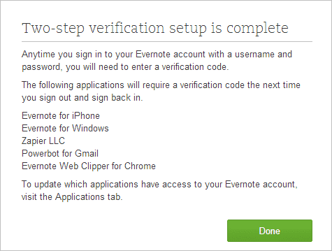 Complete-the-Evernote-two-step-verification-process