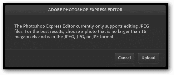 Click-Upload-to-import-an-image-to-Photoshop.com