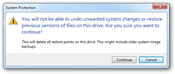 Remove-all-System-Restore-points-to-free-up-disk-space