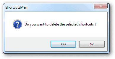 Confirm-the-removal-of-a-shortcut-in-ShortcutsMan
