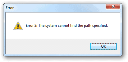 Error-3-is-displayed-when-a-path-does-not-exist-when-created-a-report-for-ShortcutsMan