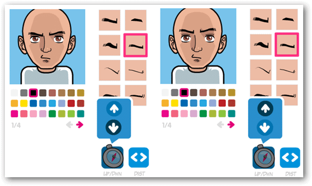 Move-eyebrows-up-or-down-to-express-specific-expressions-on-your-avatar-in-Face-Your-Manga
