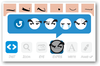 Change-your-avatar's-expression-in-Face-Your-Manga-with-the-EXPRS-option