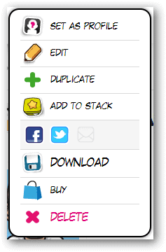 View-additional-avatar-options-for-downloading-or-sharing-from-Face-Your-Manga