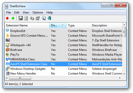 Filter-all-disabled-items-in-ShellExView-from-the-disabled-column-name