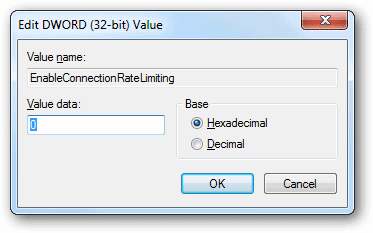 Set-the-value-data-of-EnableConnectionRateLimiting-to-zero