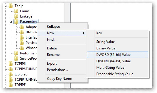 Create-a-new-DWORD-Value-in-the-Parameters-folder