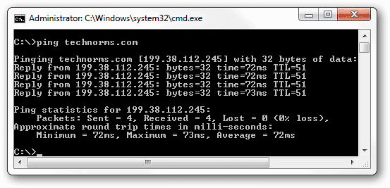 Ping-a-website-to-show-the-results-in-the-command-prompt-window