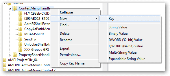 Add-a-new-key-to-the-ContextMenuHandlers-folder