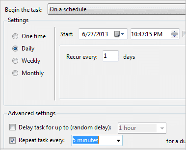 Schedule-a-file-to-run-automatically-every-five-minutes-in-Outlook