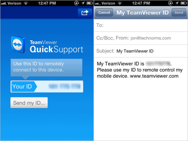 Provide Remote Support to iOS Devices with TeamViewer QuickSupport