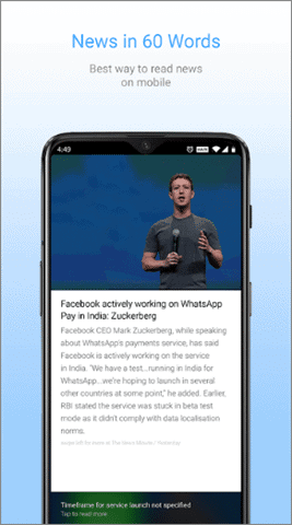 inshorts best Android news app