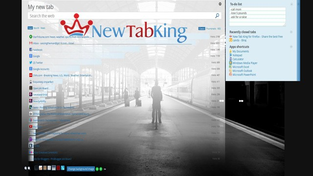 How to Use New Tab King to Improve Your Firefox New Tab Functionality