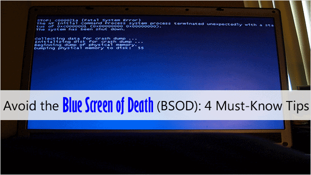 avoiding-the-blue-screen-of-death-bsod-4-must-know-tips