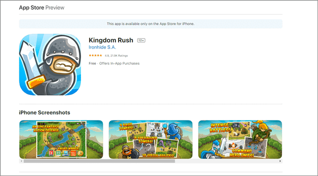 kingdom rush best building games