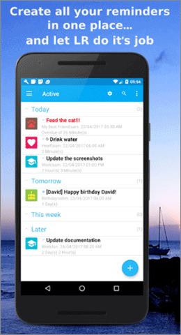 life reminders reminder app android