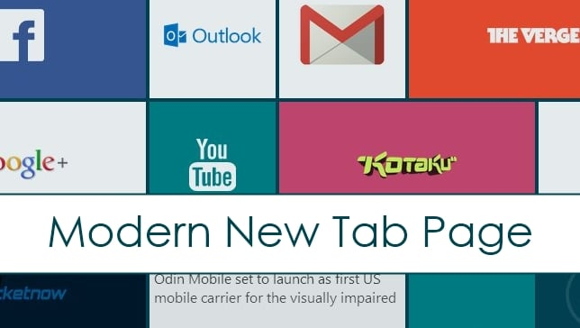 Add the Modern New Tab Page to Give Chrome the Windows 8 Feel