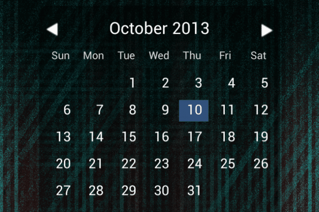 Keeping it beautifully simple, Month Calendar Widget keeps its features to a minimum.