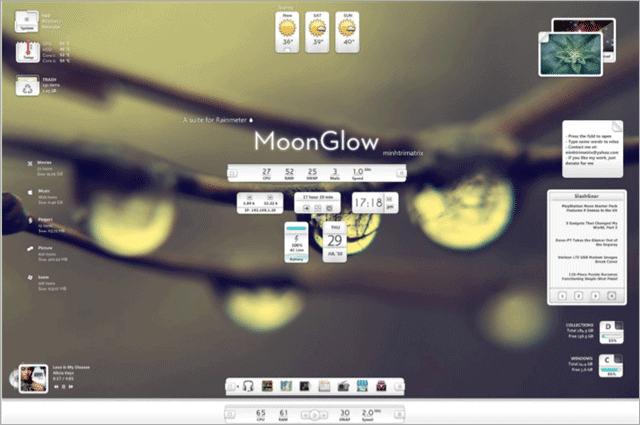 moonglow-rainmeter-skin