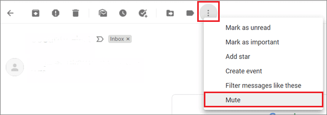 Mute a conversation for how to organize Gmail