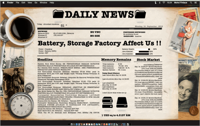 newspaper-desktop-rainmeter-skin
