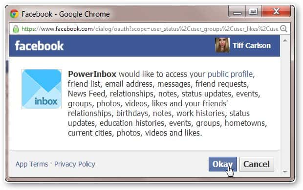 clicking-okay-to-let-powerInbox-access-facebook