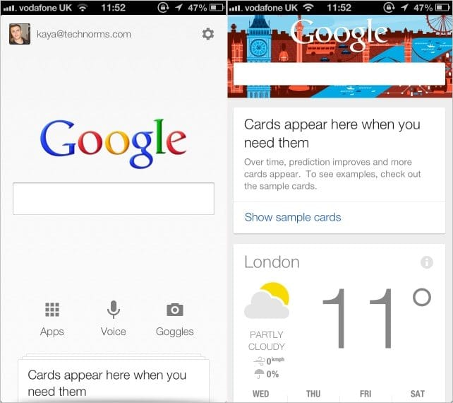 Viewing-Google-Now-Home-Screen