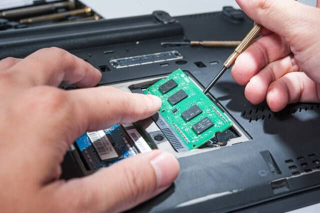 Installing RAM in the laptop to Fix Automatic Repair Couldn't Repair Your PC In Windows 10