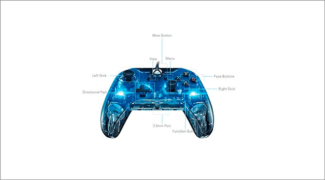 pdp afterglow wired xbox one controller