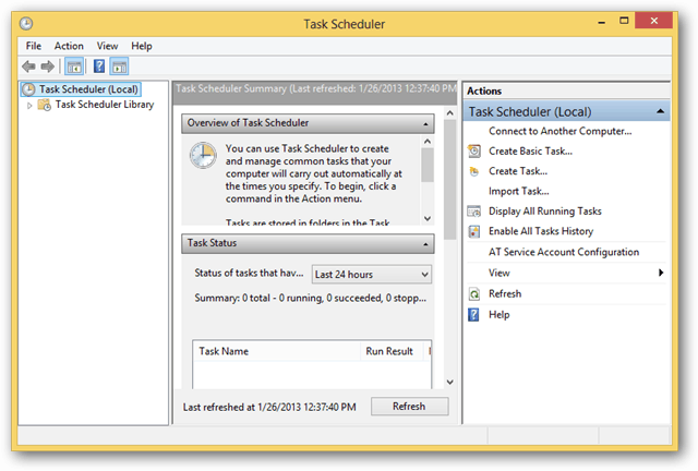schedule tasks in windows 8 to walk away from your computer every