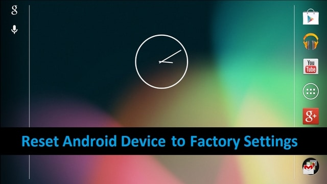 stepbystep guide to factory reset an android device