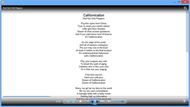windows media player lyrics plugin for windows 7 free download