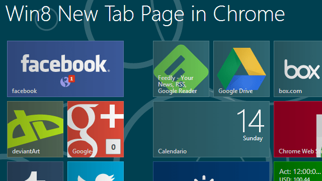 MetroTab for Chrome Gives Your New Tab Page the Windows 8